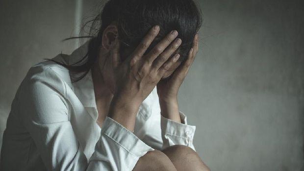 Ilustrasi wanita mengalami stres dan depresi