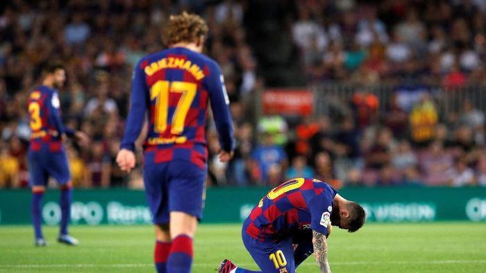Tanpa Lionel Messi, Barcelona layaknya tim biasa-biasa saja (Albert Gea/REUTERS)