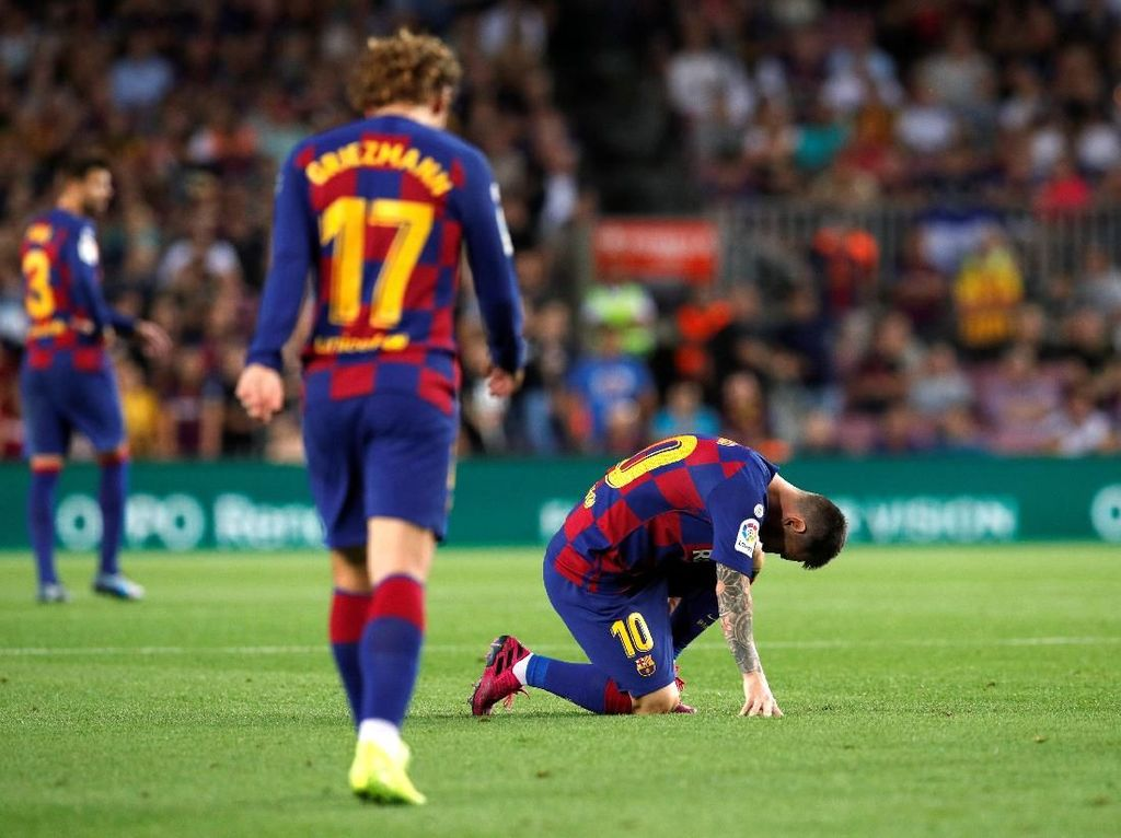 Tanpa Messi, Barcelona Biasa-biasa Saja
