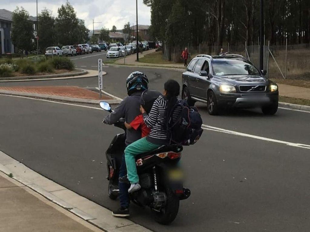 Naik Motor Bonceng Tiga di Australia Bisa Didenda Rp 3 Jutaan