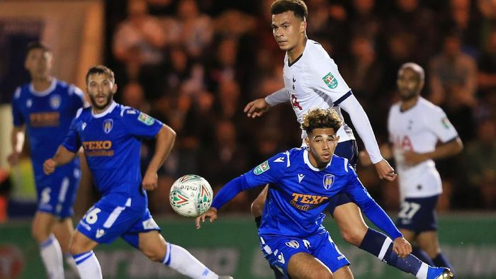 Tottenham Hotspur disingkirkan tim Divisi Empat, Colchester United, di babak ketiga Piala Liga Inggris (Foto: Stephen Pond/Getty Images)