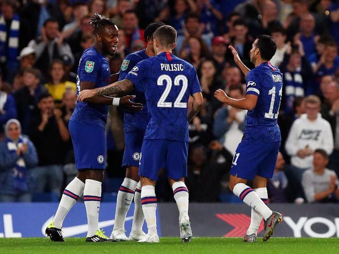 Chelsea menang 7-1 atas Grimsby Town di babak ketiga Piala Liga Inggris, Kamis (26/9/2019) dini hari WIB. (Foto: Dan Istitene/Getty Images)
