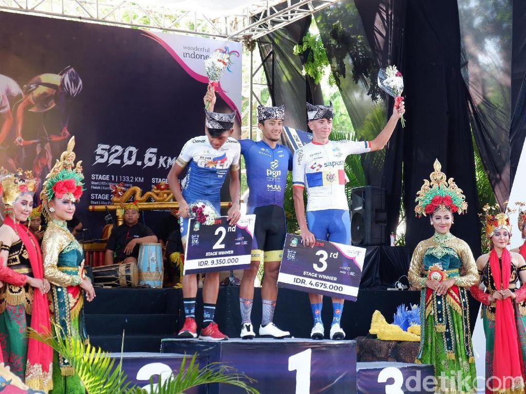 Juara Etape Kedua Tour de Banyuwangi Ijen, Aiman Persembahkan untuk Taufik
