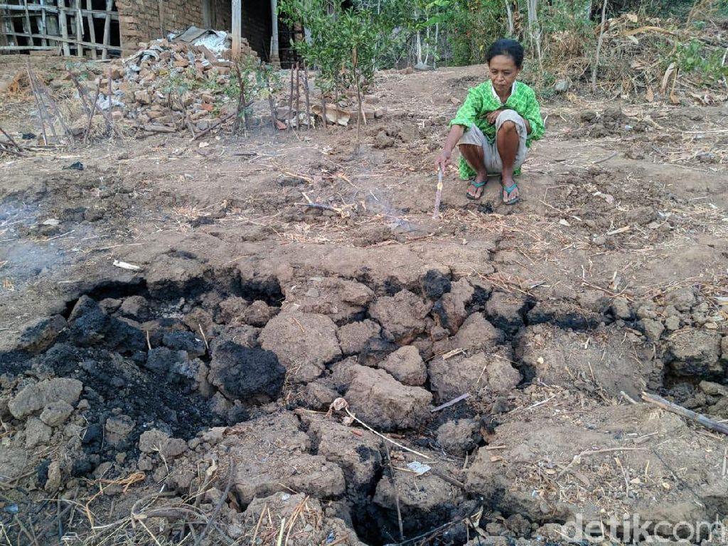 Video Api Muncul dari Retakan Tanah di Ponorogo