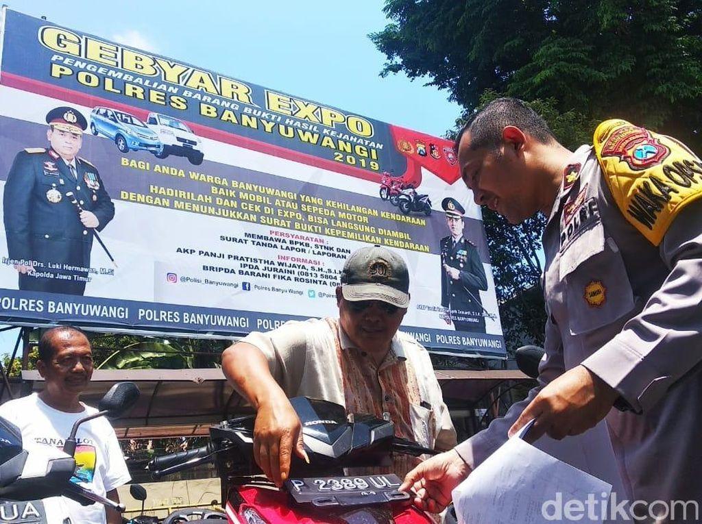 Polres Banyuwangi Gelar Expo untuk Kendaraan Warga yang Hilang