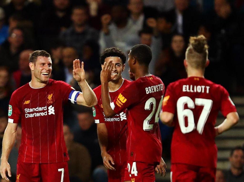Bekuk MK Dons, Liverpool Tembus Babak Keempat Piala Liga Inggris