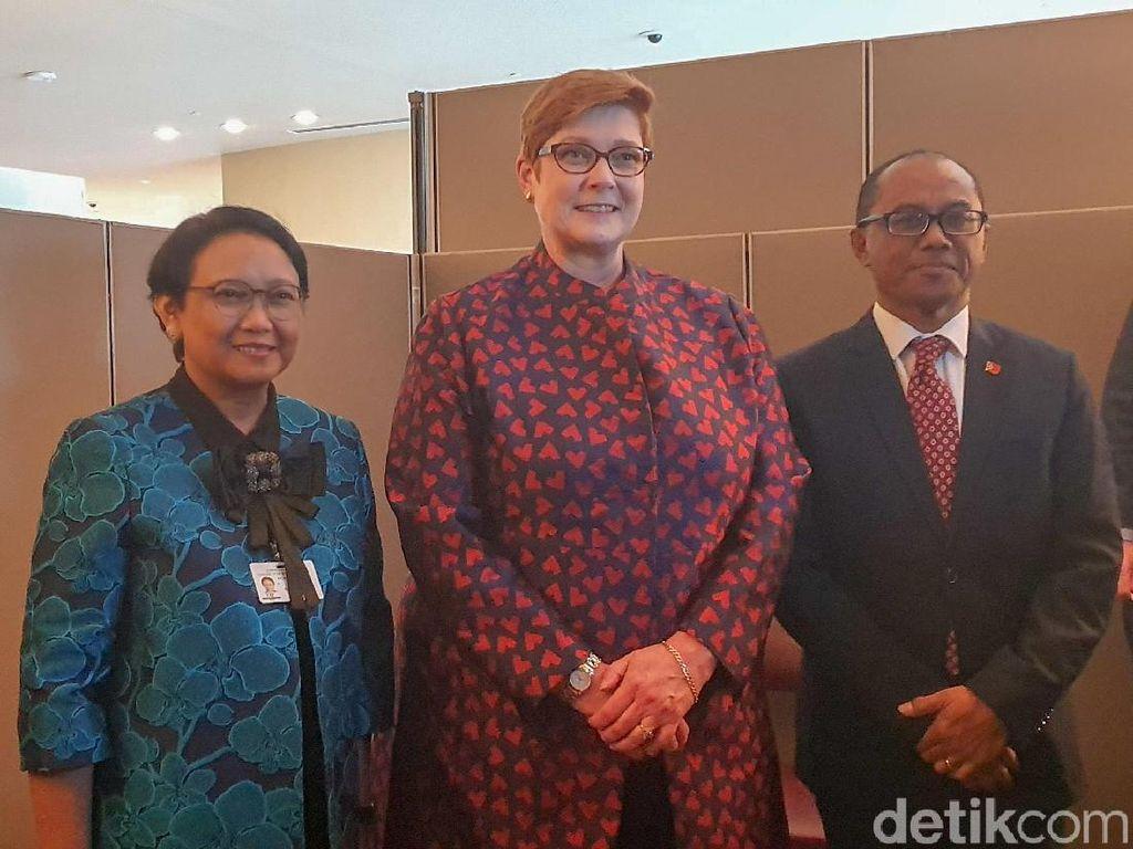 Menlu Indonesia-Timor Leste-Australia Bertemu di PBB, Ini yang Dibahas