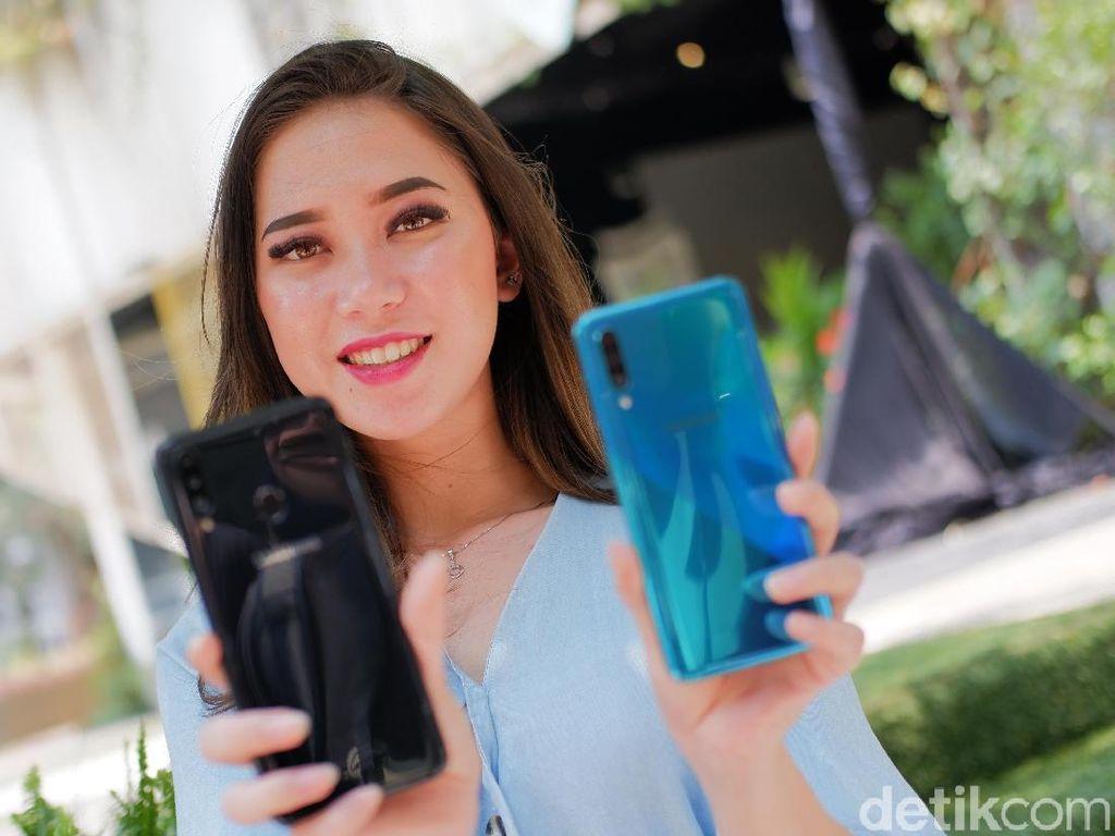 Wujud Galaxy A20s dan Galaxy A30s yang Siap Goda Kantong