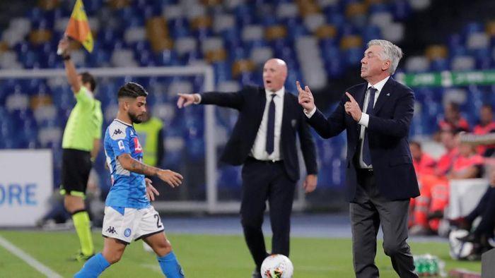 Carlo Ancelotti kesal Napoli dikritik usai kalah dari Cagliari (Ciro De Luca/REUTERS)