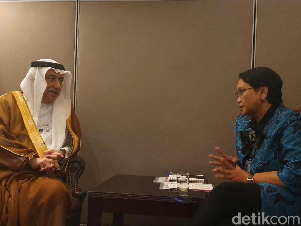 Menlu Retno Bahas Palestina dengan Arab Saudi dan Bahrain