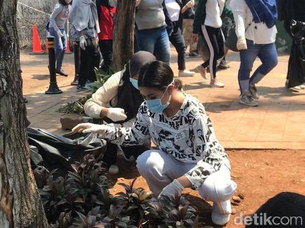 Punguti Sampah Pascademo, Awkarin: Aku Pemulung Cantik Disayang Mantan