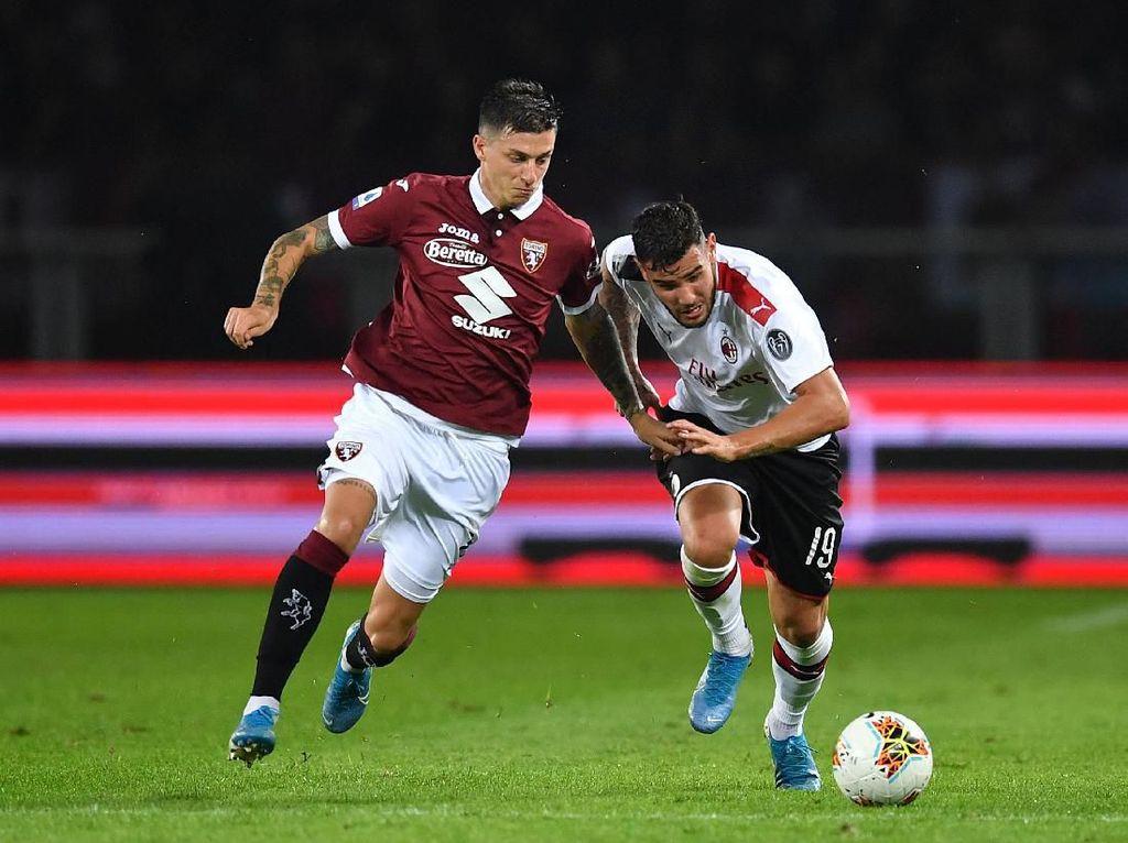 Hasil Liga Italia: Sempat Unggul, AC Milan Ditekuk Torino 1-2