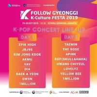 Line up Gyeonggi K-Culture Festa 2019