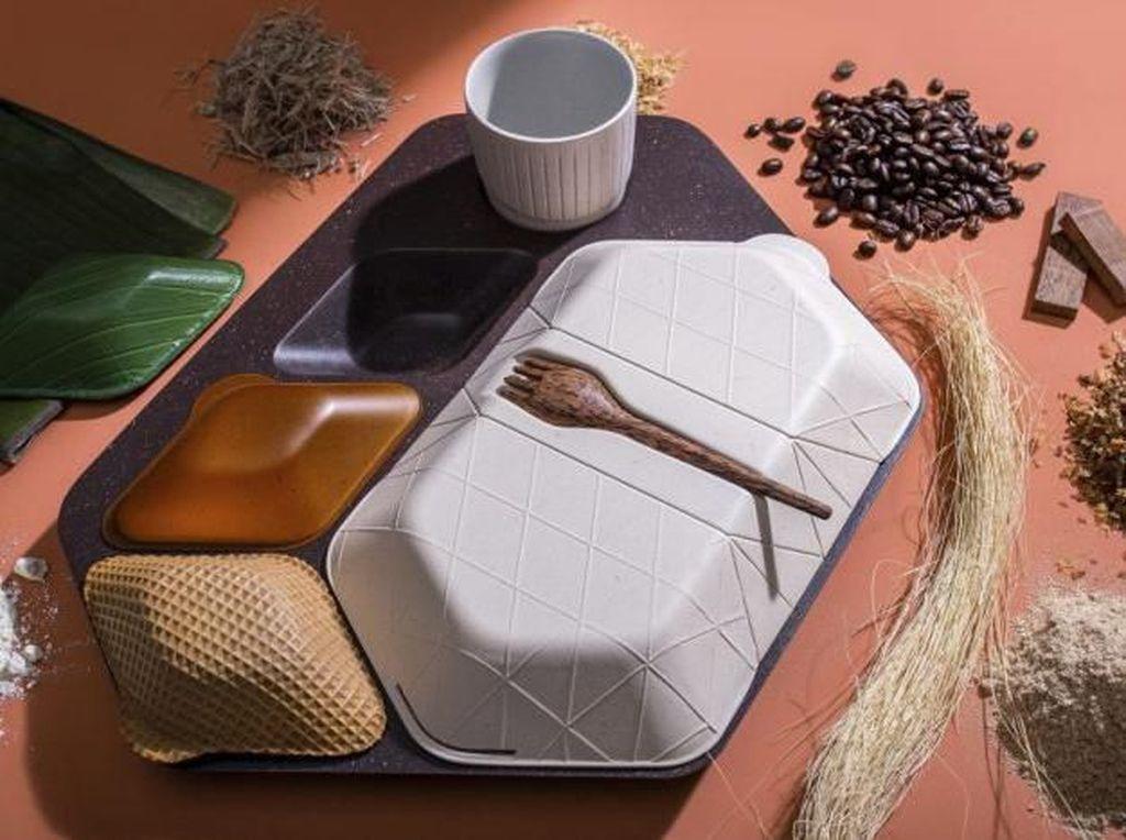 Foto: Begini Nih Baki Makanan Pesawat yang Bisa Kamu Makan