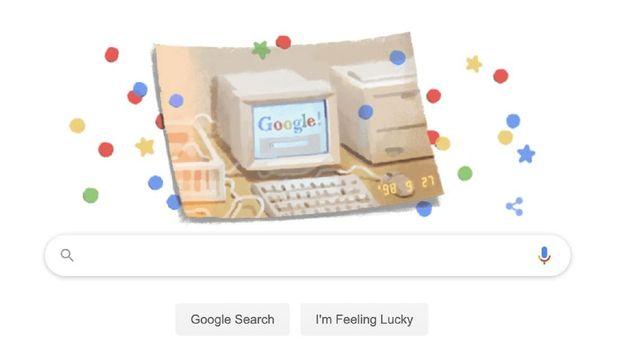 Laman ulang tahun google ke-21.