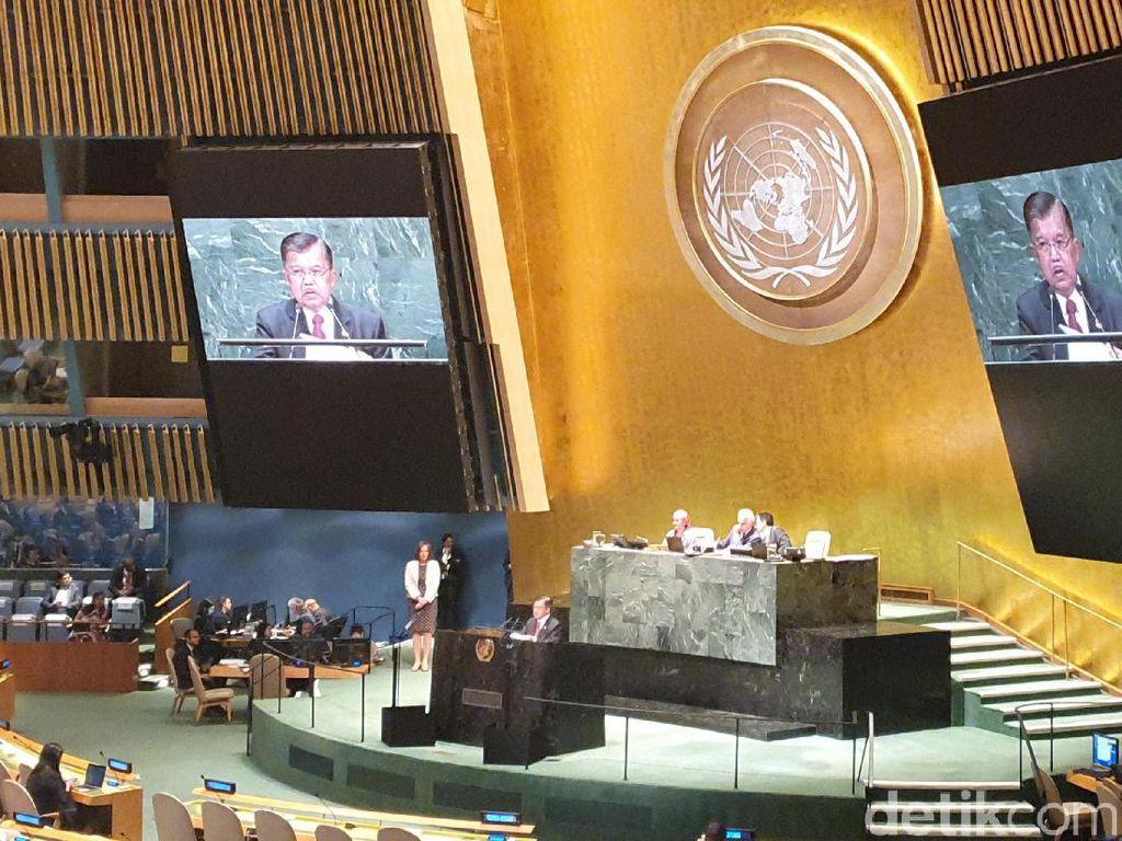 Saat JK Ditanya-tanya Ke Mana Pak Jokowi di Sidang PBB