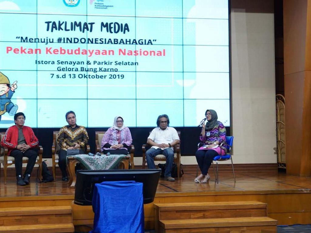 Pekan Kebudayaan Nasional Digelar untuk Indonesia Bahagia