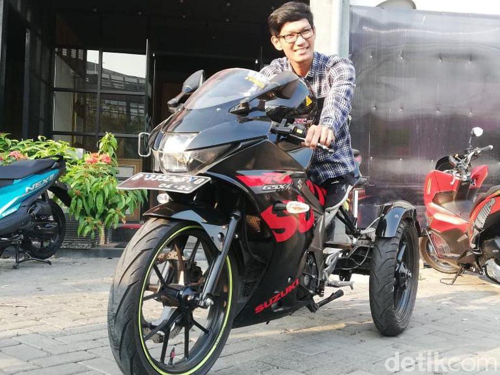 Meski Berkebutuhan Khusus, Estu Ingin Riding Keliling Nusantara