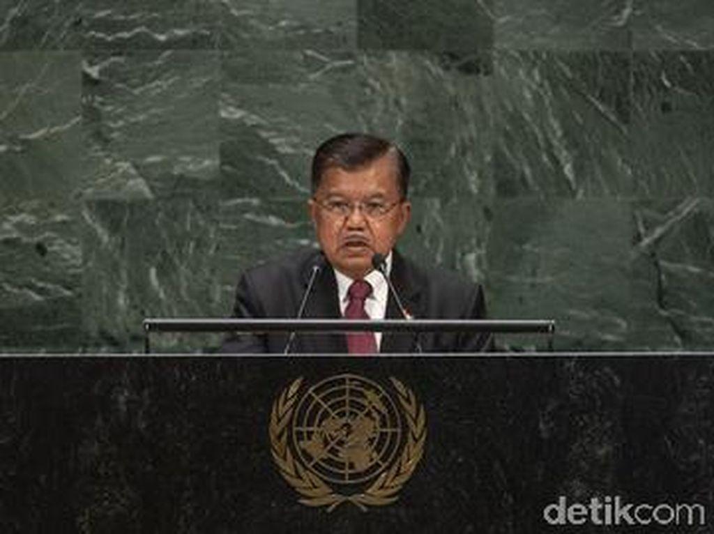 Bicara di PBB, JK Banggakan Angka Kemiskinan RI Turun