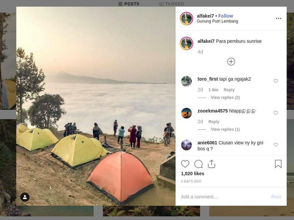 Negeri Atas Awan di Bandung Ini Hits Lagi, Efek Gunung Luhur?