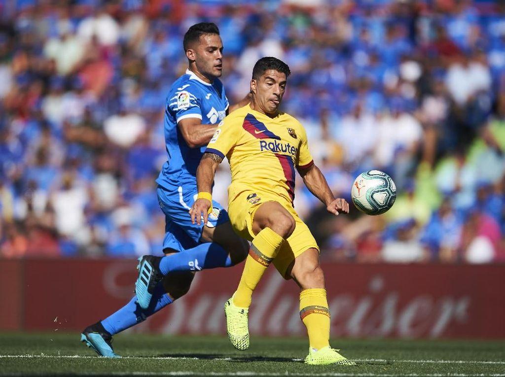 Getafe Vs Barcelona: Suarez Bikin Gol, Barca Menang 2-0