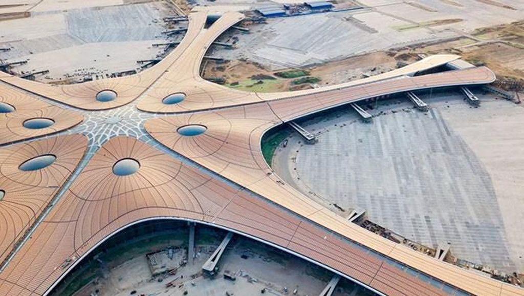 Bandara Terbesar Dunia di China, Bentuknya Seperti Bintang Laut!