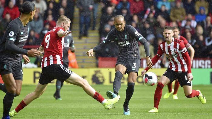 Sheffield United menahan Liverpool tanpa gol di babak pertama pertandingan pekan ketujuh Liga Inggris 2019/2020. (Foto: Rui Vieira/AP Photo)