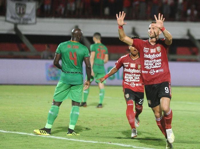 Bali United tinggal membutuhkan empat kemenangan untuk menguni gelar juara Liga 1 2019. (Foto: Fikri Yusuf/Antara)