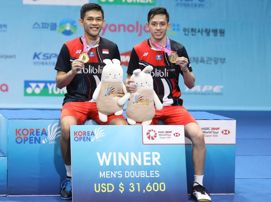 Lebih Pede di Final Korea Open, Fajar/Rian pun Menang Straight Game