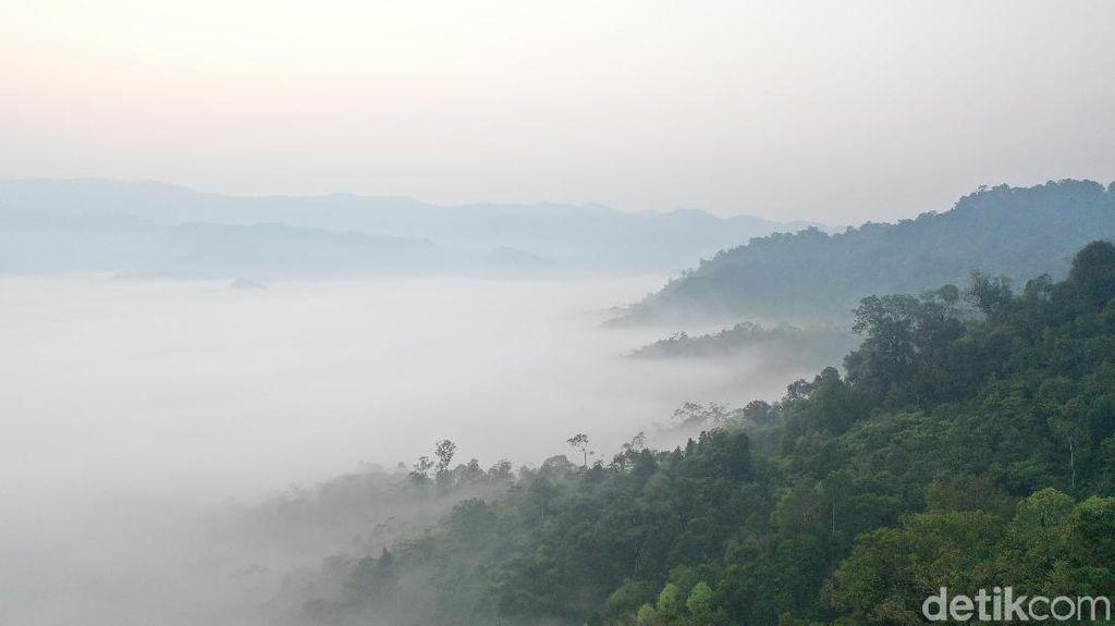Foto Drone: Negeri di Atas Awan Gunung Luhur