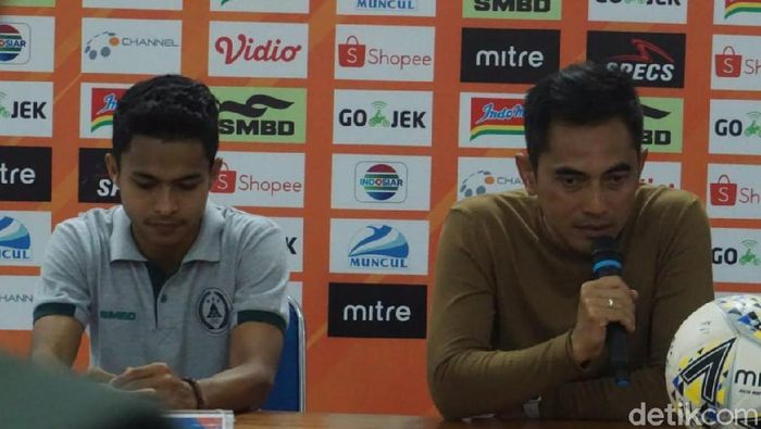 Pelatih PSS Sleman Seto Nurdiantoro. (Foto: Pradito Rida Pertana/detikcom)