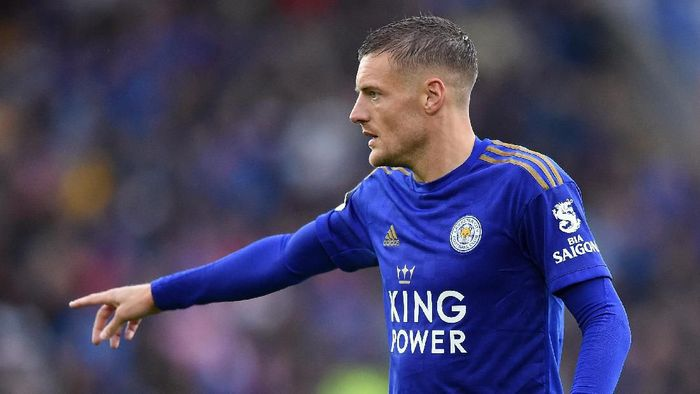 Jamie Vardy bikin dua catatan spesial saat mengantar Leicester City menggasak Newcastle United 5-0 (Nathan Stirk/Getty Images)