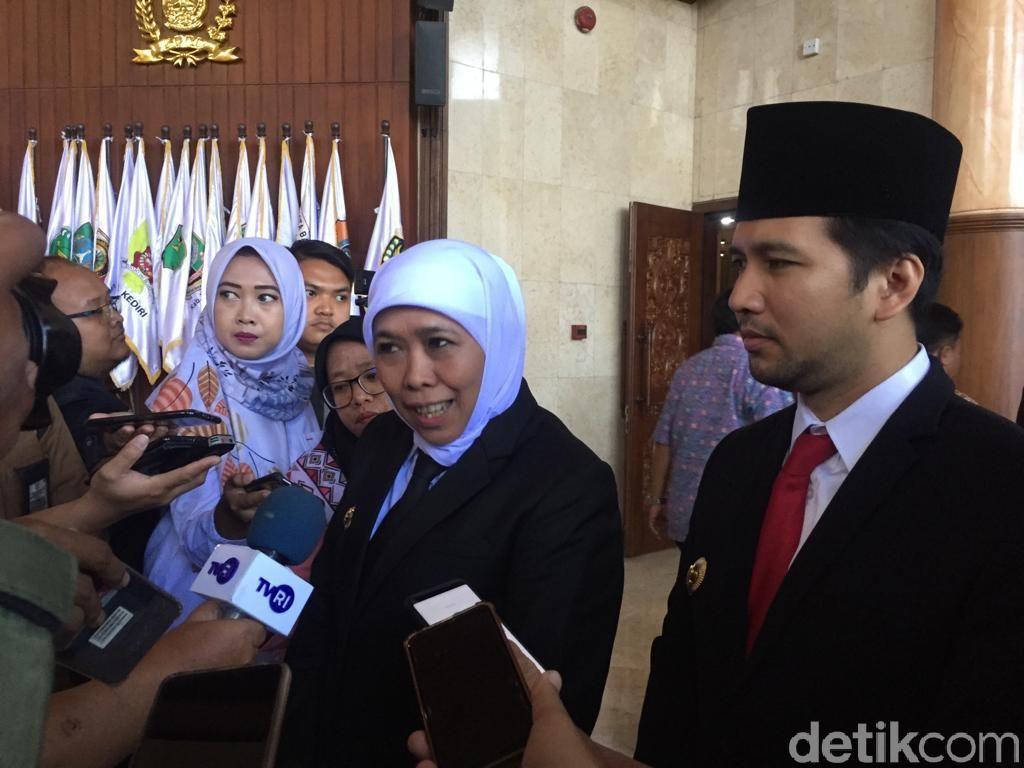 Pimpinan DPRD Jatim 2019-2024 Resmi Dilantik, Ini Harapan Khofifah