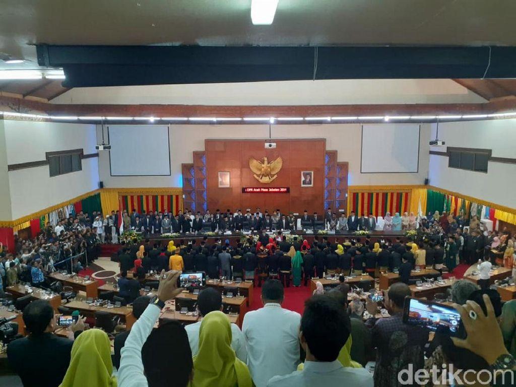 81 Anggota DPR Aceh Dilantik, Partai Aceh Kuasai Parlemen