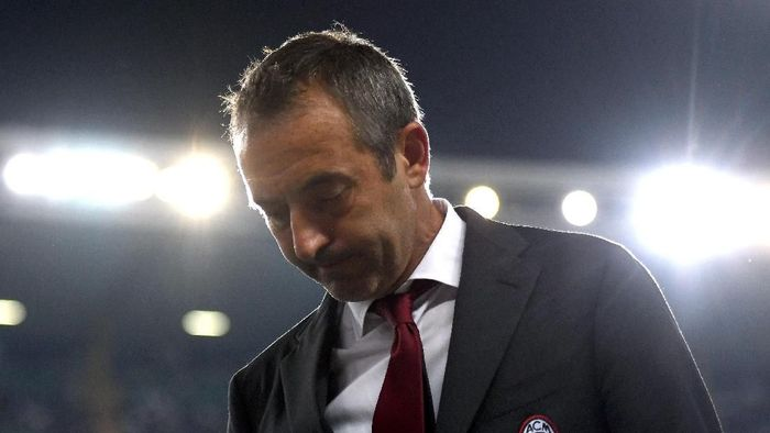AC Milan tidak sabaran pada Marco Giampaolo. Foto: Alessandro Sabattini / Getty Images