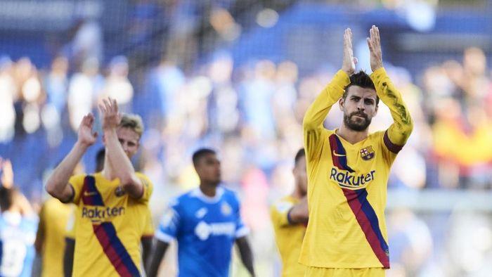 Gerard Pique mengakui Barcelona memang belum mencapai level terbaiknya. (Foto: Aitor Alcalde/Getty Images)