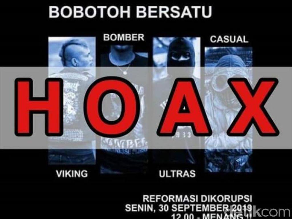 Beredar Info Bobotoh Demo Tolak RUU Siang Ini, Viking-Bomber: Hoaks!