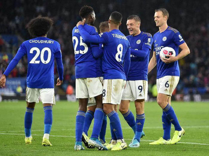 Leicester City menang 5-0 saat menjamu Newcastle United di Liga Inggris (Nathan Stirk/Getty Images)