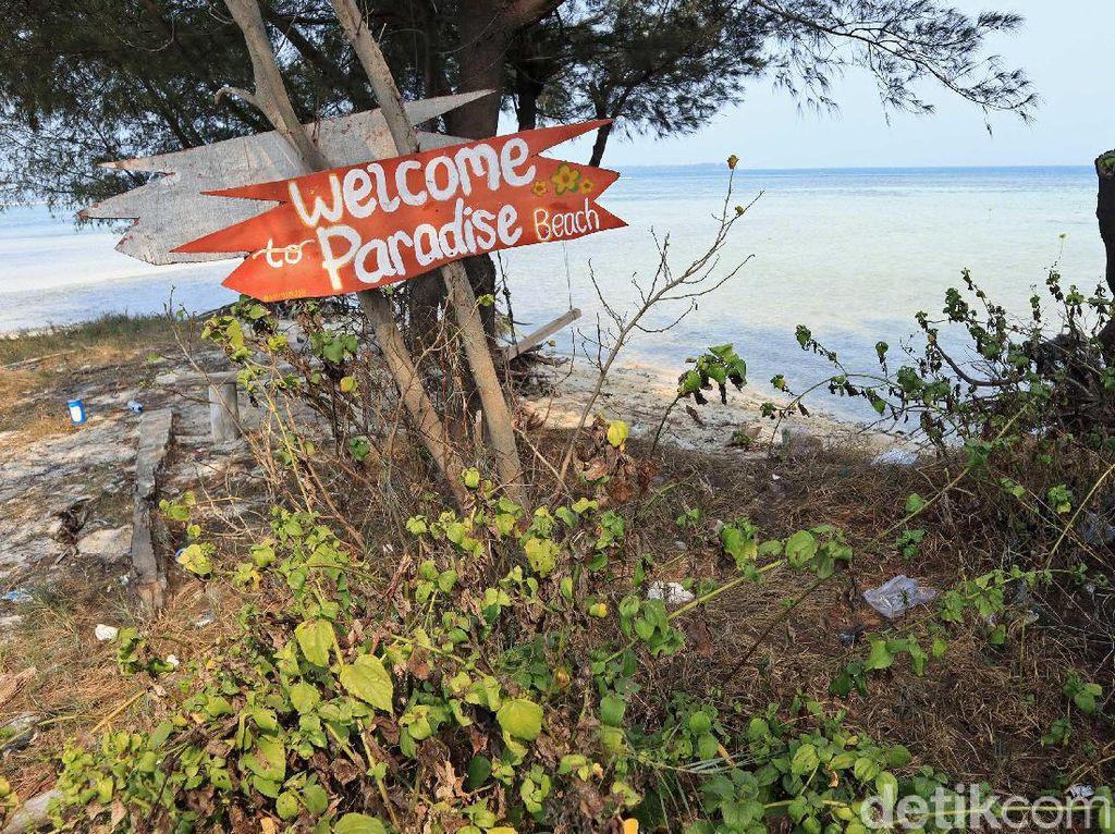 Ada Pantai Surga di Pulau Tidung Kecil, Sayang Banyak Sampah