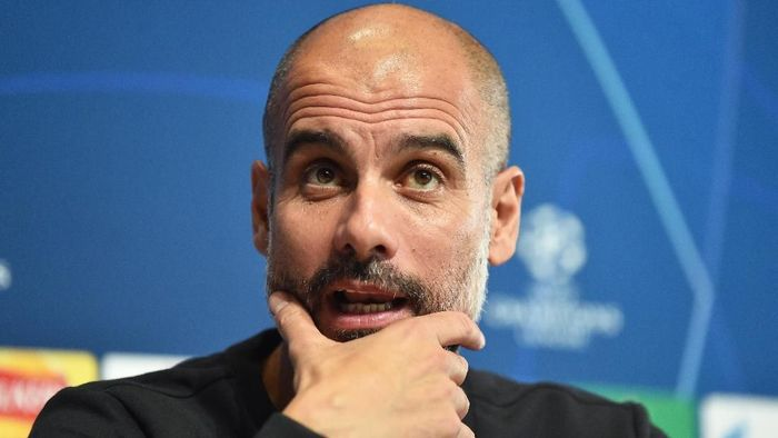 Manajer Manchester City Pep Guardiola. (Foto: Nathan Stirk/Getty Images)