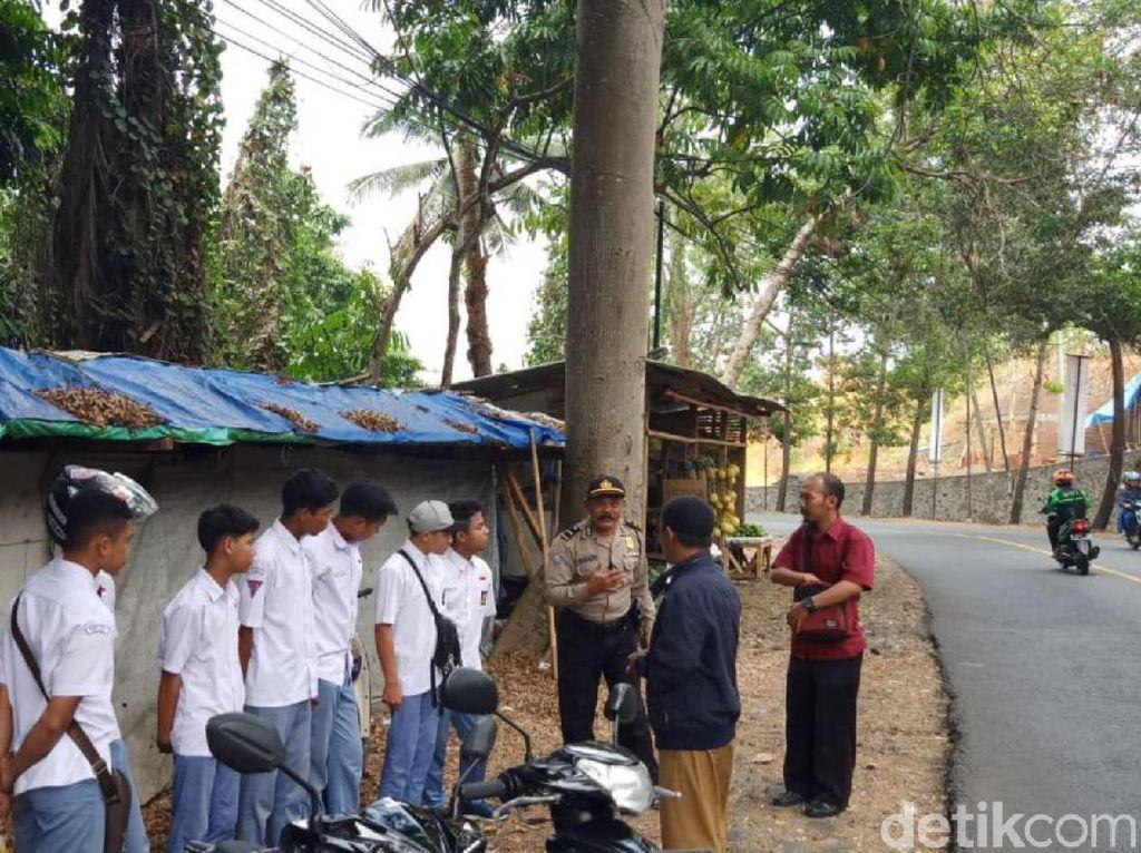 Tim Gabungan Gelar Patroli Cegah Pelajar di Ciamis Ikut Demo