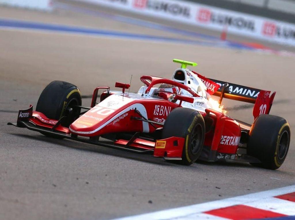 Finis Ketujuh di Sprint Race F2 Rusia, Sean Dapat Dua Poin