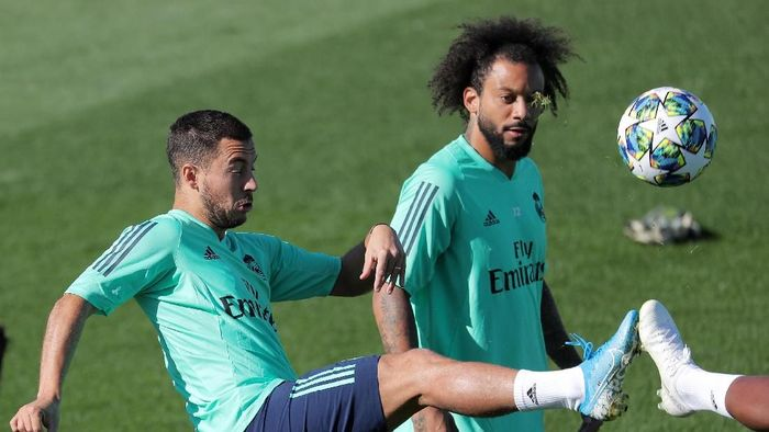 Eden Hazard dan Marcelo starter di laga Real Madrid vs Club Brugge (Juan Medina/Reuters)