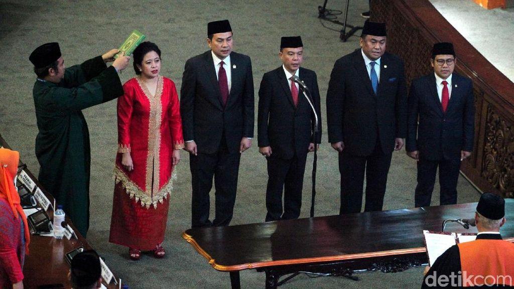 Momen Puan Maharani Dilantik Jadi Ketua DPR