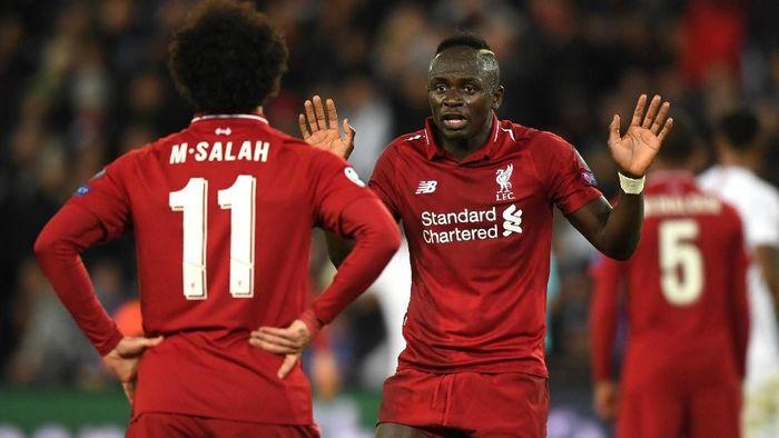 Sadio Mane sempat kesal dengan Mohamed Salah belum lama ini. (Foto: Shaun Botterill / Getty Images)