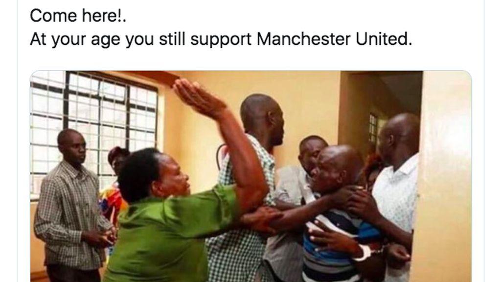Seri Lawan Arsenal, Meme Sindiran Buat MU Bermunculan