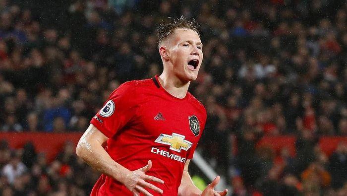 Scott McTominay mencetak gol kandang perdana bersama Manchester United (Jason Cairnduff/Reuters)