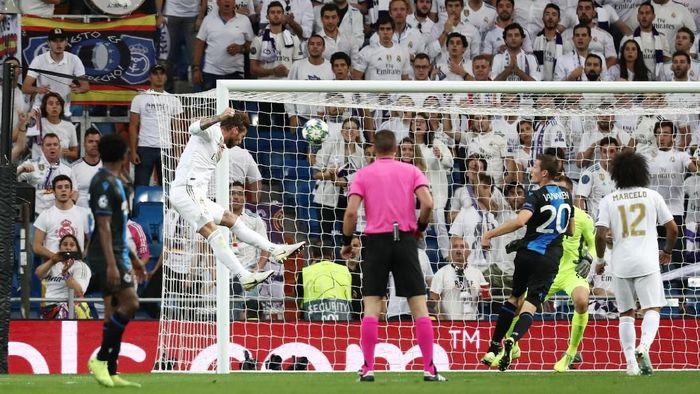 Real Madrid vs Club Brugge tuntas 2-2 (Sergio Perez/Reuters)