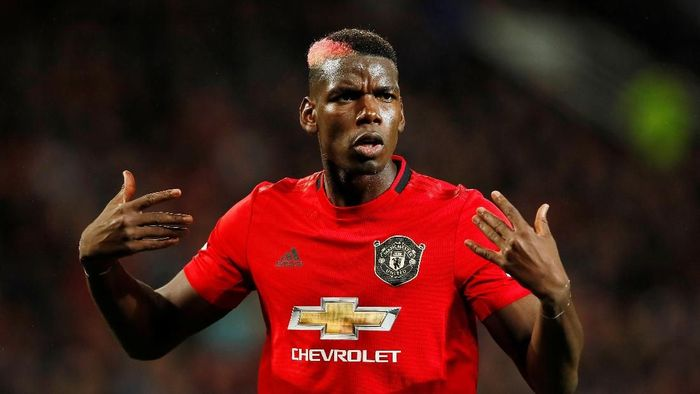 Soccer Football - Premier League - Manchester United v Arsenal - Old Trafford, Manchester, Britain - September 30, 2019   Manchester Uniteds Paul Pogba reacts   Action Images via Reuters/Jason Cairnduff    EDITORIAL USE ONLY. No use with unauthorized audio, video, data, fixture lists, club/league logos or