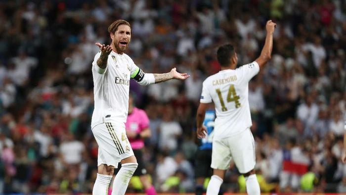 Real Madrid nyaris kalahdari Club Brugge di matchday 2 Liga Champions. (Foto: Reuters)
